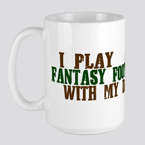 Fantasy Football with Daddy Large Mug