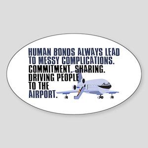 Antisocial Dark Humor Sticker (Oval)