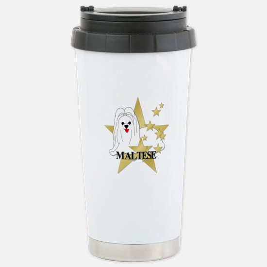 Maltese Stars Stainless Steel Travel Mug