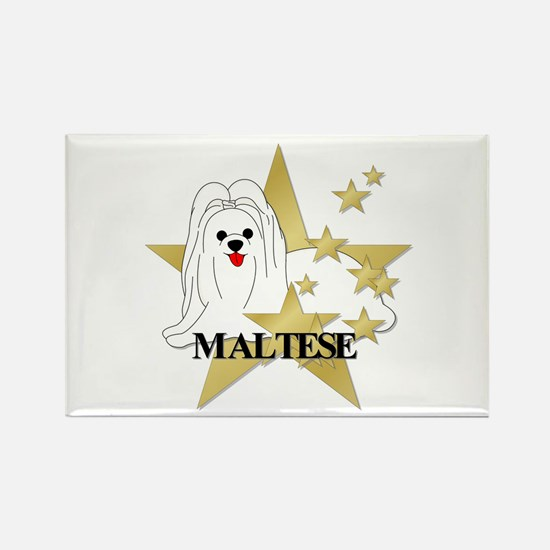 Maltese Stars Rectangle Magnet