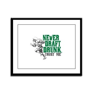 Fantasy Football Draft Drunk Framed Panel Print