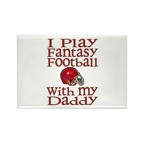 Fantasy Football with Daddy Rectangle Magnet