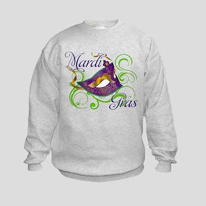 Mardi Gras Design 5 Kids Sweatshirt