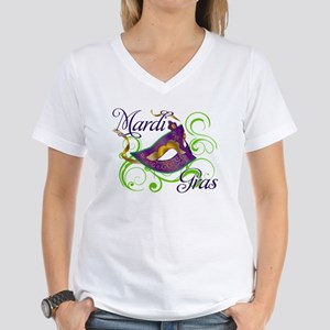 Mardi Gras Design 5 Women's V-Neck T-Shirt