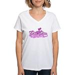 DirtDivaPink Women's V-Neck T-Shirt