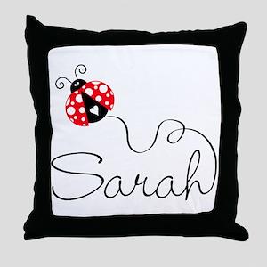 Ladybug Sarah Throw Pillow