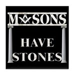 Masons Stones Tile Coaster