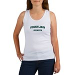 Finger Lakes-NY (lakes on back) Women's Tank Top