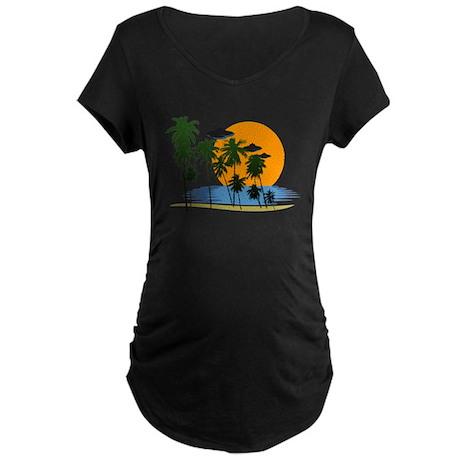 UFO Watcher Vacation Maternity Dark T-Shirt
