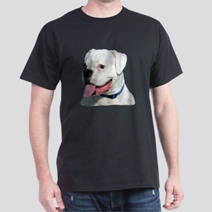 White Boxer Dog Dark T-Shirt