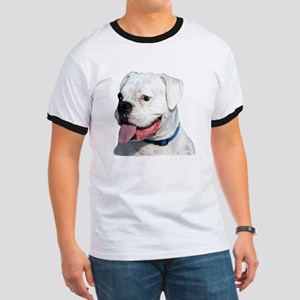 White Boxer Dog Ringer T