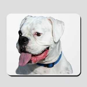 White Boxer Dog Mousepad