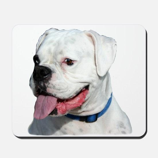 White Boxer Dog Mousepad