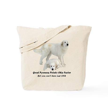 Great Pyrenees Potato Chip Tote Bag