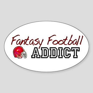 Fantasy Football Addict Oval Sticker