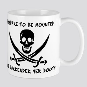 Surrender Yer Booty Large Mugs