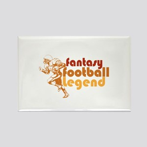 Retro Fantasy Football Legend Rectangle Magnet