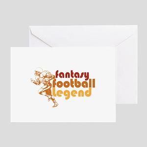 Retro Fantasy Football Legend Greeting Card