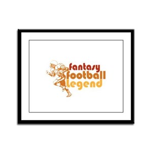 Retro Fantasy Football Legend Framed Panel Print