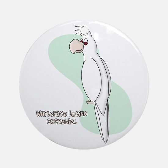 Whiteface Lutino Cockatiel Ornament (Round)