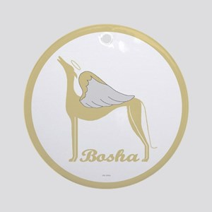 BOSHA ANGEL GREY ROUND ORNAMENT