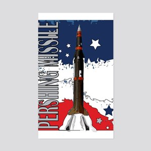 Pershing Missile ICBM Rectangle Sticker