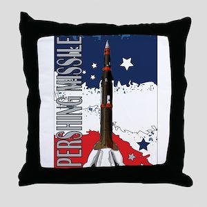 Pershing Missile ICBM Throw Pillow
