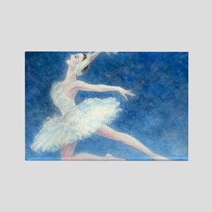 Swan Lake Ballet Rectangle Magnet