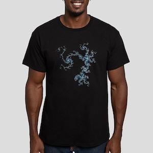 Mandelbrot Archipelago Men's Fitted T-Shirt (dark)