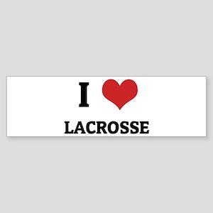 I Love Lacrosse Bumper Sticker