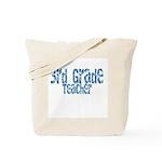 Distressed Blue 3rd Grade Tote Bag