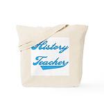 Blue Text History Teacher Tote Bag