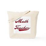 Math Teacher Red Text Tote Bag