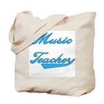 Blue Text Music Teacher Tote Bag