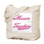 Music Teacher Pink Text Tote Bag