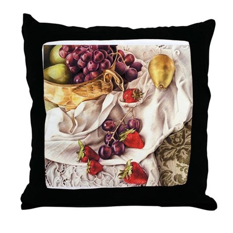 Berries & Pears Throw Pillow