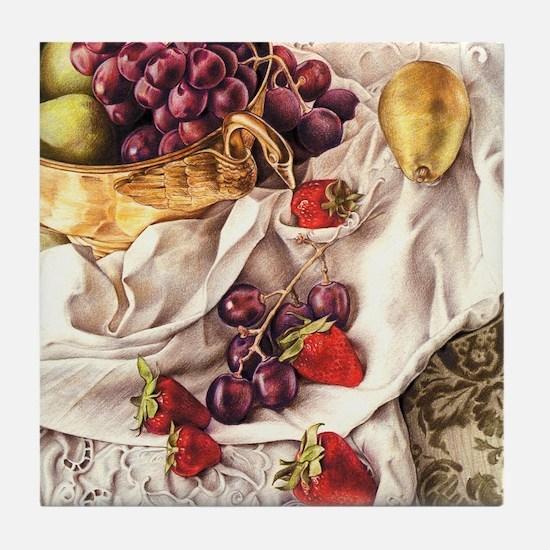 Berries & Pears Tile Coaster