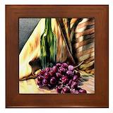 Grapes Framed Tiles