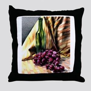 Gold & Grapes Throw Pillow