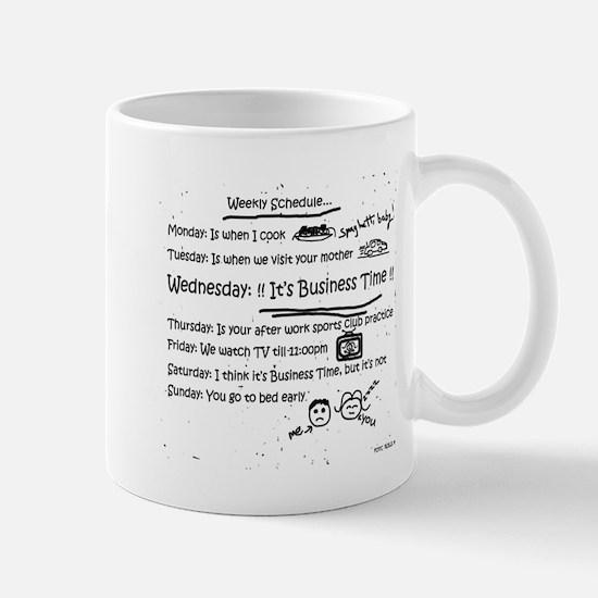 Business Time Weekly Schedule Mug