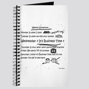 Business Time Weekly Schedule Journal