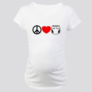 Peace, Love, Cloth Maternity T-Shirt