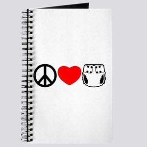 Peace, Love, Cloth Journal