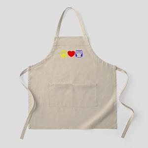 Peace, Love, Cloth Primary BBQ Apron