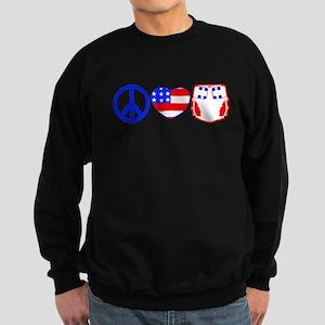 Peace, Love, Cloth Sweatshirt (dark)