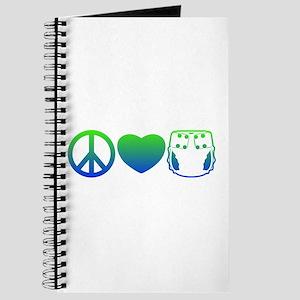 Peace, Love, Cloth Blue/Green Journal