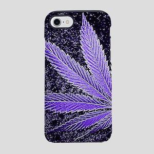 Purple Cannabis Leaf iPhone 7 Tough Case