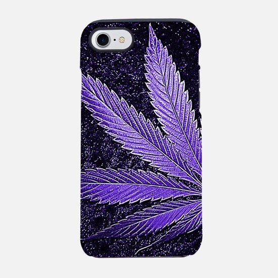 Purple Cannabis Leaf iPhone 7 Tough Case