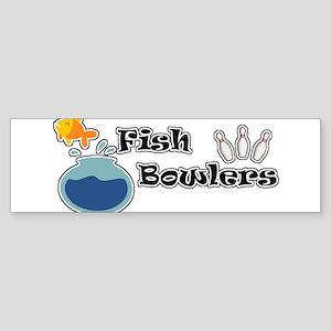 Fish Bowlers Bumper Sticker