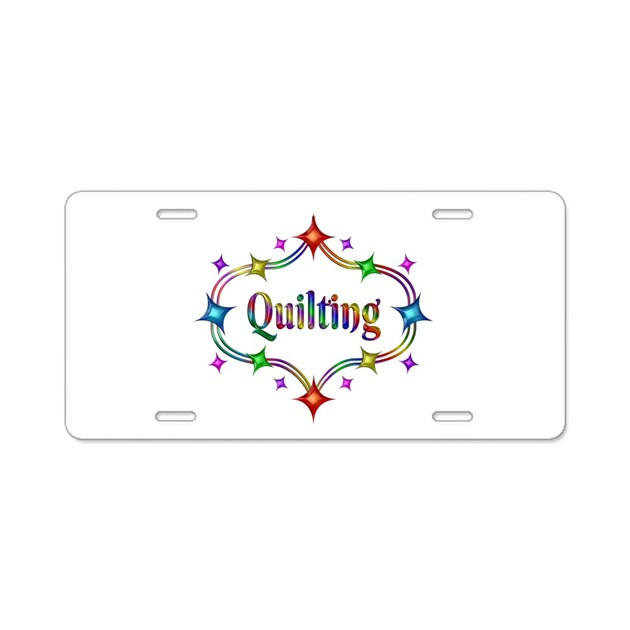 Quilting Stars Aluminum License Plate by Admin_CP10911760